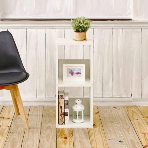 Andrade Duo Eco 30 2 Shelf Cube Unit Narrow Bookcase Aspen White