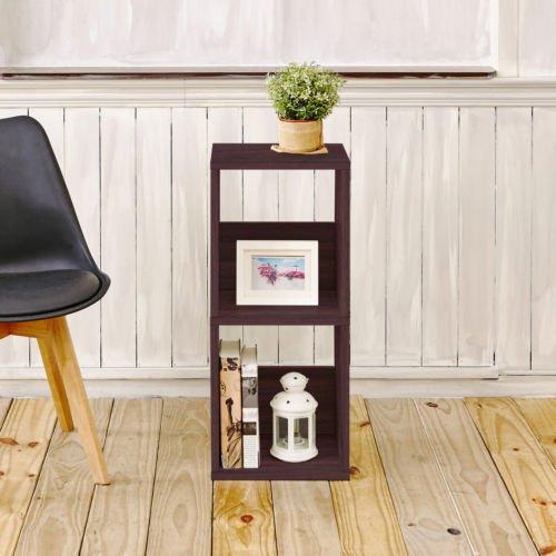 Andrade Duo Eco 30 2 Shelf Cube Unit Narrow Bookcase Espresso