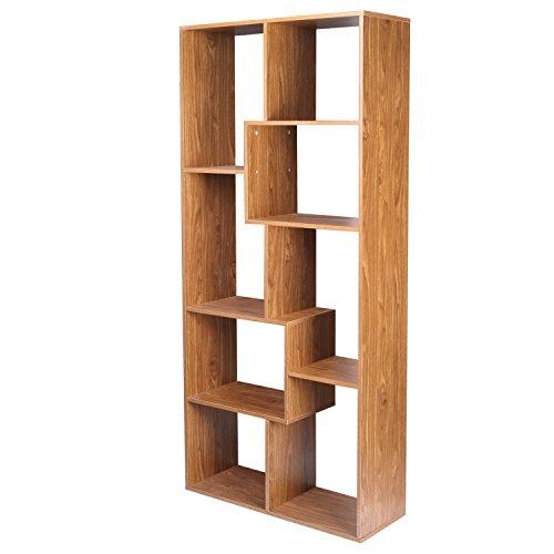 Asense 705 inch Home Cube Unit 8-Shelf Bookcase Shelf Bookcase Wall Shelf Brown