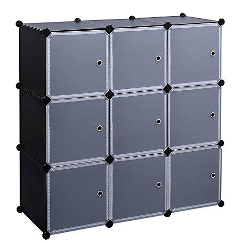 Soogo 9121620 -Cube Storage Organizers Plastic Cube Organizer Shelf Wardrobe Organizers