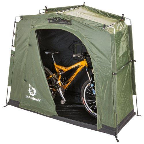 The YardStash III Space Saving Outdoor Bike Storage Garden Storage and Pool Storage