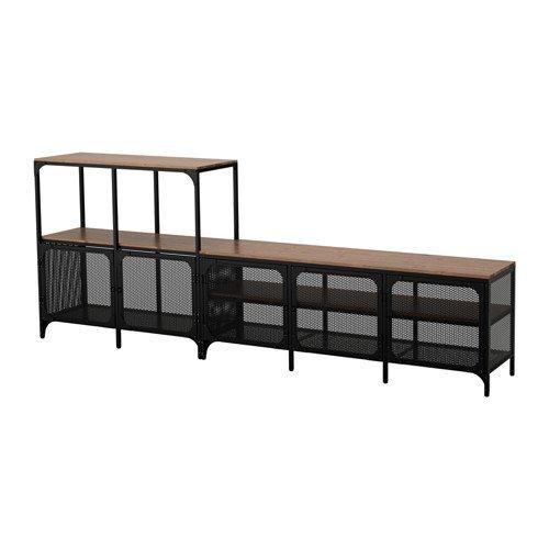 IKEA TV storage combination black