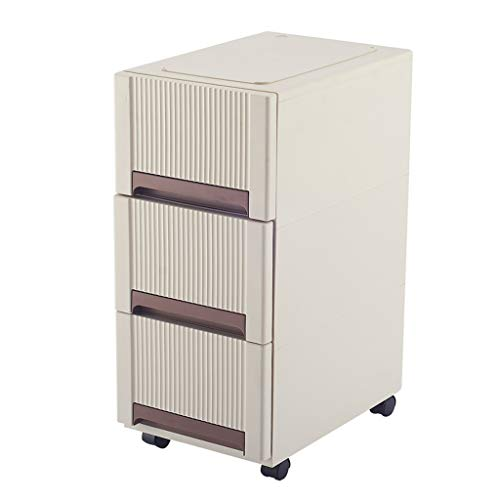 Storage Cabinet Drawer Type Cabinet with Wheel Finishing Cabinet Multi-Layer Locker Living Room Bedroom Storage Box ZHAOSHUNLI 1123 Size  2 Layers