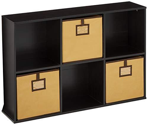 FURINNO 6-Cube Bookcase Storage Organizer Espresso