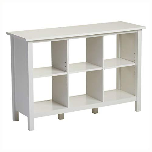 PROGLEAM Adjustable Shelf 6-Cube Bookcase Storage Unit Sideboard in White