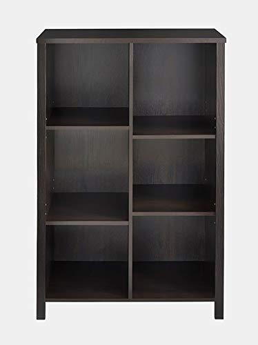 Wood Bookcase - 6 Cube Bookcase - Black Walnut