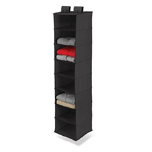 Honey-Can-Do SFT-01246 Hanging Closet Organizer Black 8-Shelf
