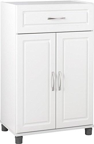 Ameriwood SystemBuild Kendall 24 1 Drawer2 Door Base Storage Cabinet White