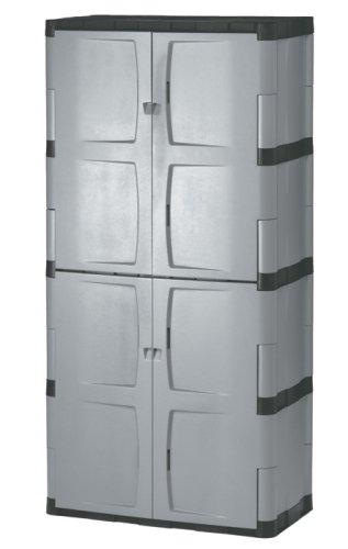Rubbermaid 7083 72-Inch Four-Shelf Double-Door Resin Storage Cabinet