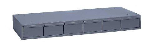 Durham 002-95 Gray Cold Rolled Steel Storage Cabinet 33-34 Width x 4 Height x 11-58 Depth 6 Drawer