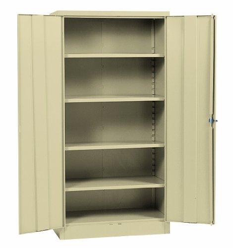 Sandusky Lee RTA7000-07 Putty Steel SnapIt Storage Cabinet 5 Adjustable Shelves Powder Coat Finish 72 Height x 36 Width x 18 Depth