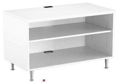 42 Steel Open Shelf Low Storage Cabinet