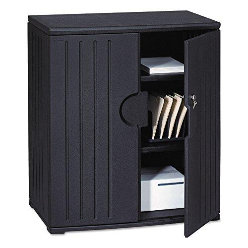 ICEBERG ENTERPRISES  OfficeWorks Resin Storage Cabinet 36w x 22d x 46h Black Sold as 1 Each