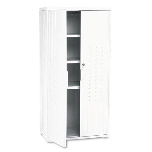 Iceberg - OfficeWorks Resin Storage Cabinet 33w x 18d x 66h Platinum 92553 DMi EA