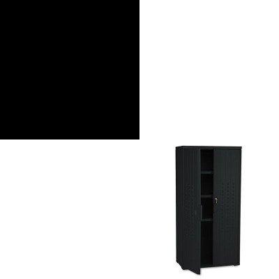 KITICE64527ICE92551 - Value Kit - Iceberg OfficeWorks Resin Storage Cabinet ICE92551 and Iceberg CafWorks Bistro Stool ICE64527
