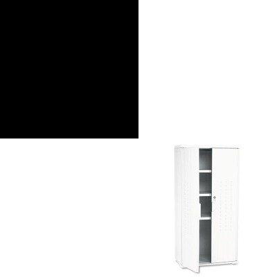 KITICE64527ICE92553 - Value Kit - Iceberg OfficeWorks Resin Storage Cabinet ICE92553 and Iceberg CafWorks Bistro Stool ICE64527