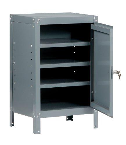 Edsal 630 Industrial Gray Steel Cabinet Table 3 Adjustable Shelves 34 Height x 21 Width x 15 Depth