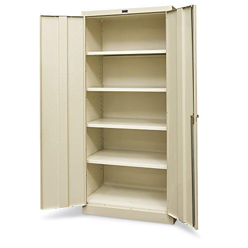 Hallowell Industrial Storage Cabinet - 36Wx18Dx78H - Assembled - Tan - Tan