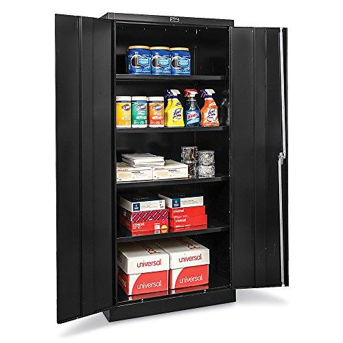 Hallowell Industrial Storage Cabinet - 48Wx18Dx78H - Unassembled - Black - Black