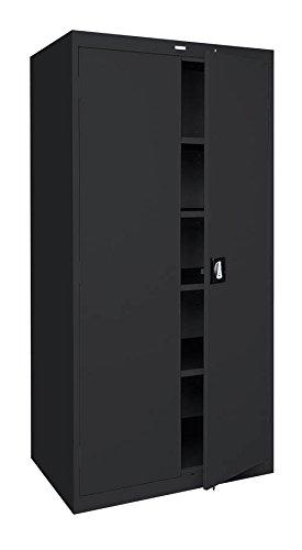 Sandusky Lee Standard-Industrial Storage Cabinets - 36X18x72 - 5 Shelves - Black - Black