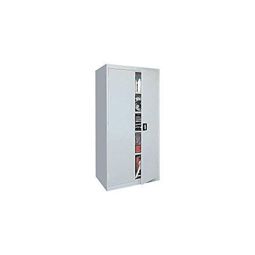 Sandusky Lee Standard-Industrial Storage Cabinets - 36X24x72 - 5 Shelves - Light Gray - Light Gray