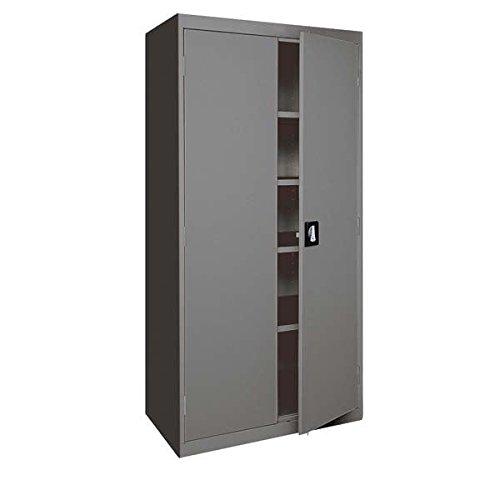Sandusky Lee Standard-Industrial Storage Cabinets - 36X24x78 - 5 Shelves - Dark Gray - Dark Gray