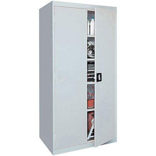 Sandusky Lee Standard-Industrial Storage Cabinets - 36X24x78 - 5 Shelves - Light Gray - Light Gray