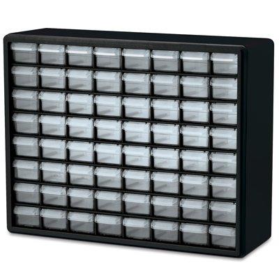 64 Drawer Black Plastic Storage Cabinet 20 L x 6-38 W x 15-1316 H 1 Cabinet