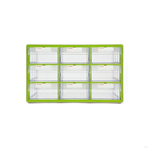 9 Drawers System Plastic Storage Cabinet Divider Multipurpose Tool Box Storage Organizer
