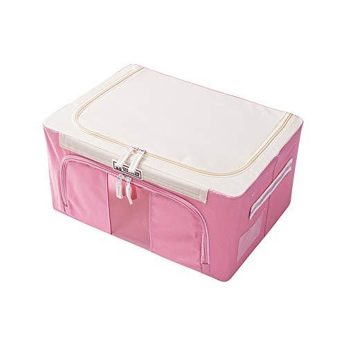 Bedroom Closet Wardrobe Zipper Storage Bag Container Organizer for Clothes Garments Blanket 22L 39 x 29 x 195cm Pink 22L 3929195CM