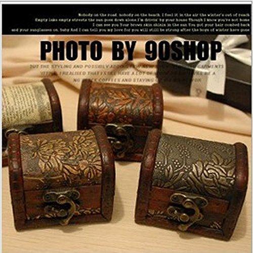 Small Trunk Box Vintage Jewelry Recipe Storage Organizer Wooden Case