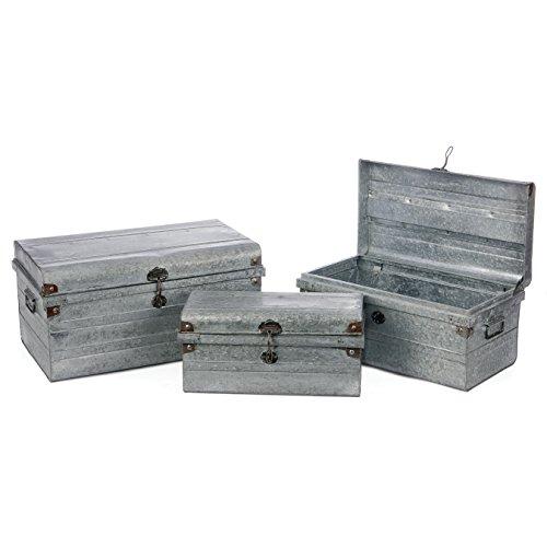 Skalny 316013 Sm 185X9X875 Lg 245X1475X12 Rectangled Metal Trunks 3Pc Set