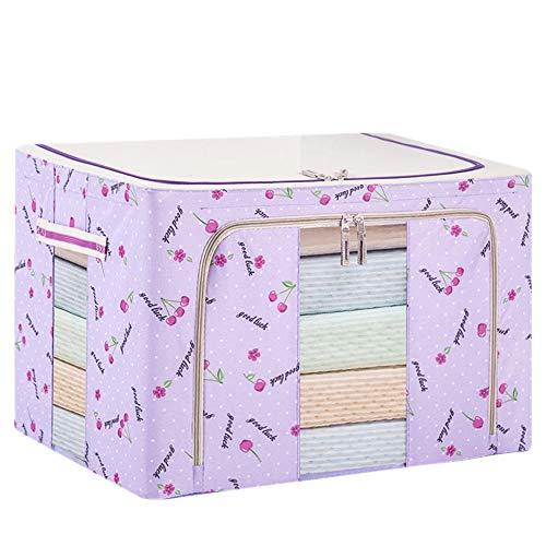 DAZISEN Storage Box with Zip Washable Wardrobe Organiser Clothing Storage Bin