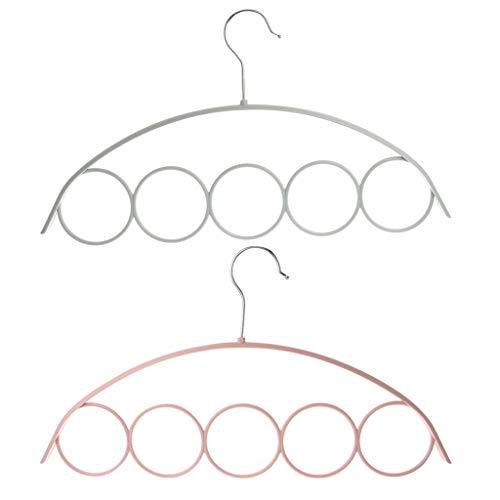 SimpleLif Scarf Holder with 5 Loop ScarfWraps Shawl Anti-Slip Plastic Hanger Wardrobe Organiser Slot Rope Holder-40x225cmRandom Color