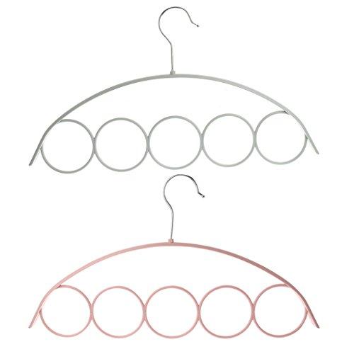XISAOK Scarf Holder with 5 Loop ScarfWraps Shawl Anti-Slip Plastic Hanger Wardrobe Organiser Slot Rope Holder-40x225cmRandom Color