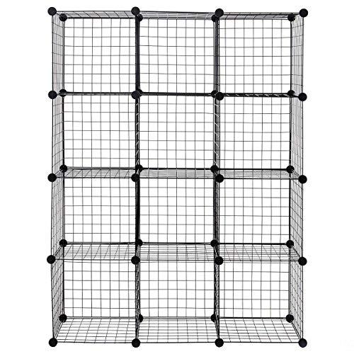 Antik shop Wire Storage Cubes Organizer Shelves Grid Organizer Wardrobe Bookcase