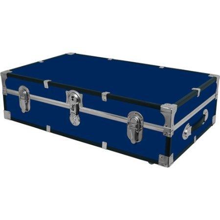 Blue Under the Bed Wheeled Storage Footlocker 31