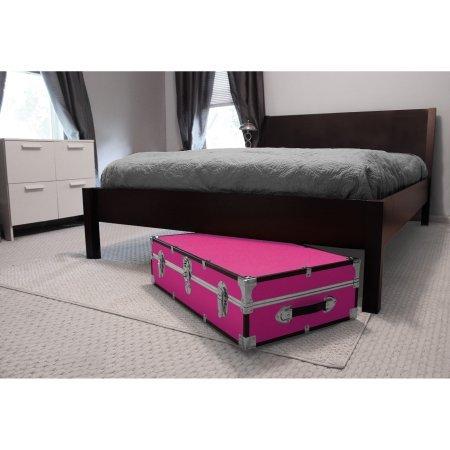 Mercury Luggage Seward Under the Bed Wheeled Storage Footlocker 31 Pink