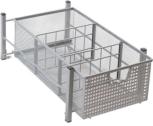 DecoBros Mesh Cabinet Basket Organizer Silver