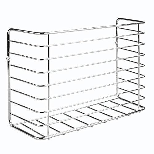 InterDesign Classico Kitchen Cabinet Organizer for Sandwich Bags Plastic Wrap Aluminum Foil - Chrome