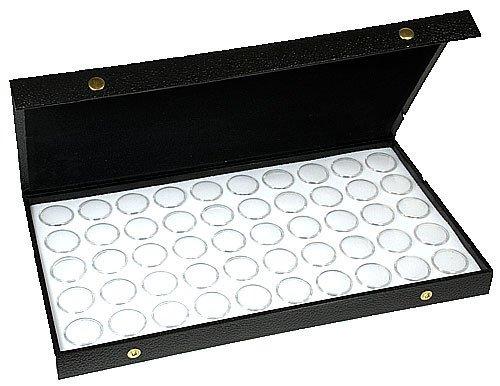 50 White New Gem Jars Display Case Gemstone Storage Container Organizer Travel By Jbt