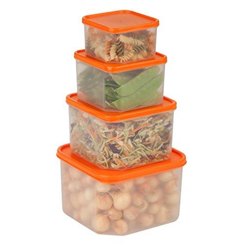 Honey-Can-Do KCH-03833 Nesting Food Storage Container Organizer Set BPA Free 8-Piece