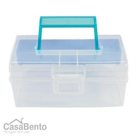 Office Organizer - Storage Container - Organizer - Storage Box - CD Case Blue 65 x 4 x 3
