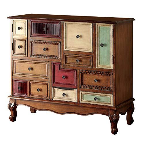 Furniture of America Zeppo Storage Chest Antique Walnut