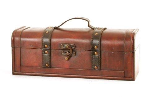 Wald Imports Brown Wood   Decorative Storage TrunkChest