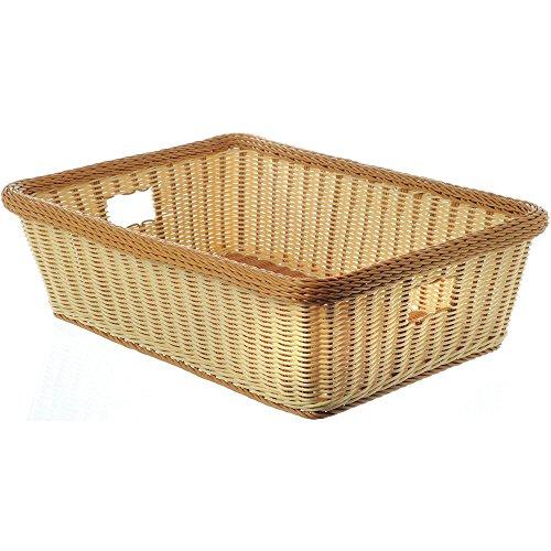GET Handled Large Wicker Basket 23L x 17W x 7D