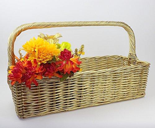 Large Wicker Basket Office Wedding Regency Gold