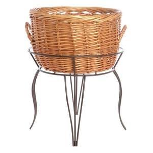 Large Wicker Basket Rack