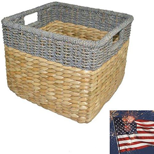 Seagrass Rectangular Wicker Storage Basket Baskets for storage Laundry BaskeLarge storage baskets Large wicker basket