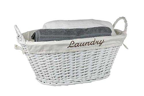 Home Basics Wicker Laundry Basket White